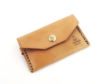 Handcrafted Leather Wallet / Leather Card Sleeve / Handcrafted in Portland, Oregon