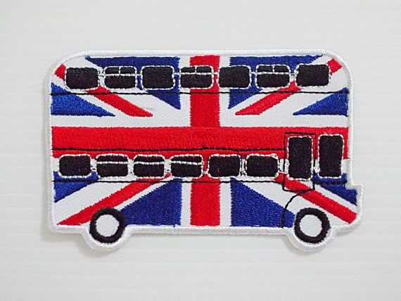 Flag of england london bus new iron on patch by likepatches