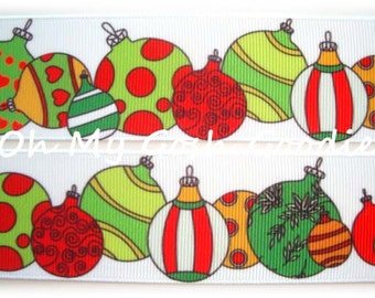 "Oh SO FABULOUS ORNAMENTS Christmas Grosgrain Ribbon - 1.5"" - Oh My Gosh Goodies"
