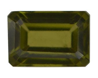 Italian Idocrase Octagon Cut Loose Gemstone 1A Quality 6x4mm TGW 0.60 cts.