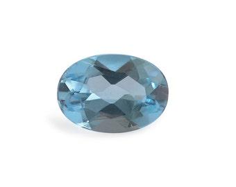 Swiss Blue Topaz Oval Cut Loose Gemstone 1A Quality 7x5mm TGW 0.65 cts.