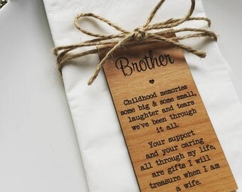 Brother Wooden Place Setting