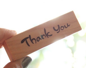 Wooden Thank You Rubber Card Making Ink Stamp Embosser Writing Stamp Gift Tag Present Tag Wedding Decor Scrapbook Crafting Craft Supplies