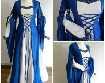 Size M/L, Medieval Gown Renaissance Dress LARP and Fantasy Costume Halloween