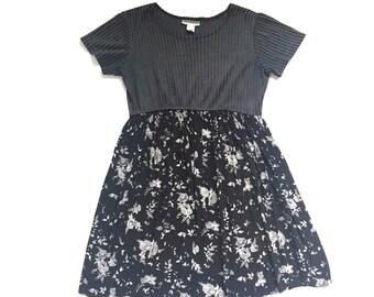 90's Grunge Floral Babydoll Dress