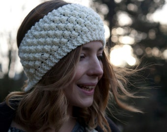 Hand Knitted Aran Headband