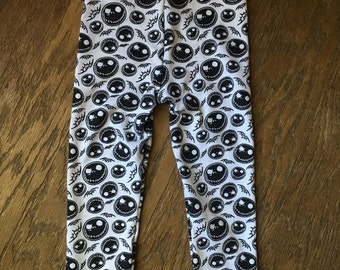Nightmare before Christmas Inspired Leggings made with Jersey Knit fabric