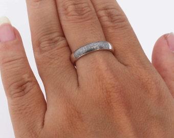 SALE 10% OFF - Your Actual Fingerprint Ring - Fingerprint Ring - Actual Signature Ring - Memorial Jewelry