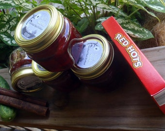 Candied Red Pickles with Cinnamon & Red Hots*