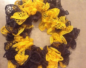 Black and yellow boutique scarf