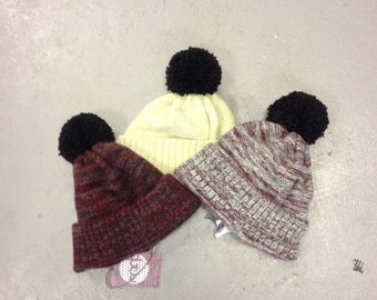 Lambswool Bobble Hats