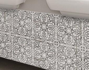 NADIA Tile Stencil - Moroccan Mediterranean Wall Furniture Floor Craft (Quarter) Tile Stencil - NA001