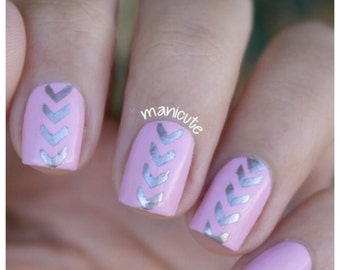 Chevron Arrow Nail Stencils / Chevron Arrow Nail Vinyls / Nail Art Guides