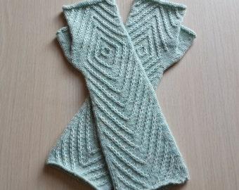 Hand knitted fingerless gloves Fingerless mittens Aran fingerless gloves Arm warmers