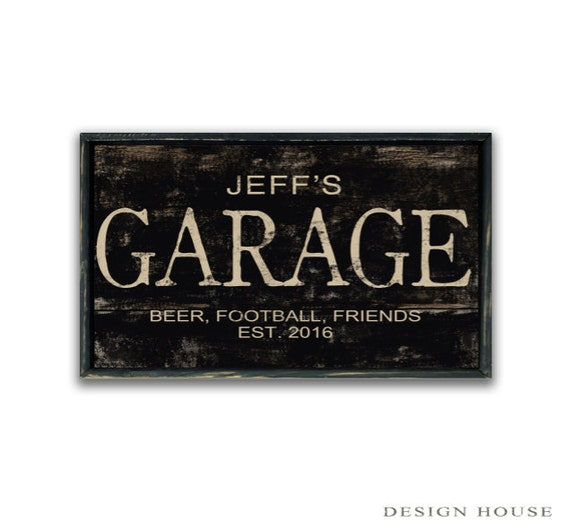 Man Cave Decorative Signs : Personalized garage sign custom signs man cave decor masculine