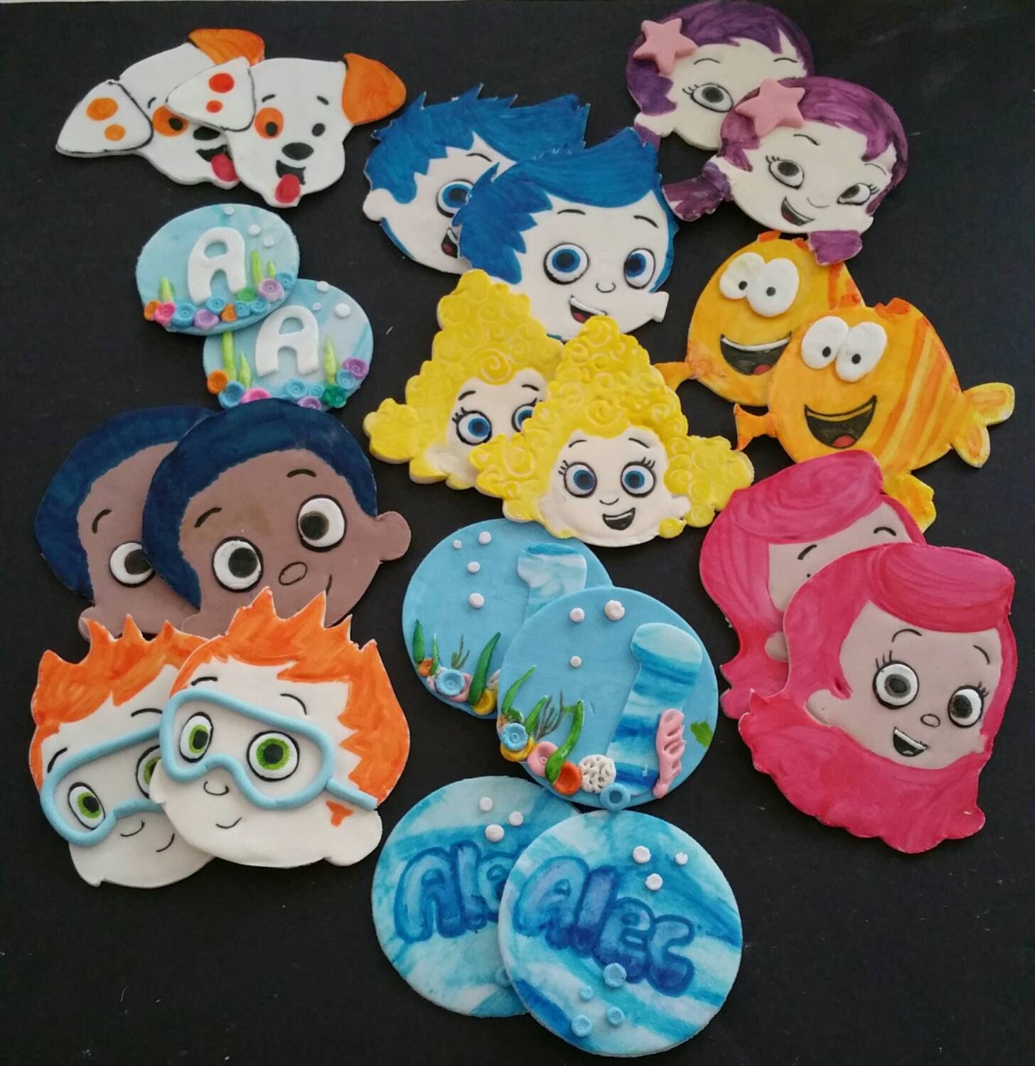 bubble guppies cake toppers guppies cupcake toppers by glazencakes on etsy 2100