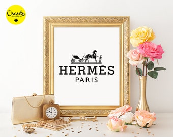 knockoff hermes - Items similar to Hermes Paris Logo Tray Orange Replica Round Tray ...