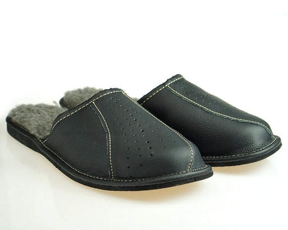 mens leather slippers 100 wool slippers moccasins men handmade