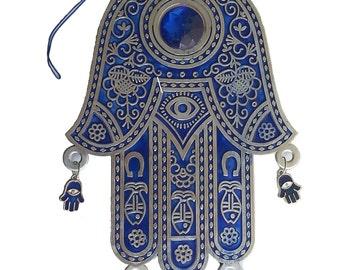 Hamsa wall hanging with small hamsas evil eye kabbalah ornament from Israel