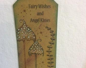 Toadstools-fairy bookmark