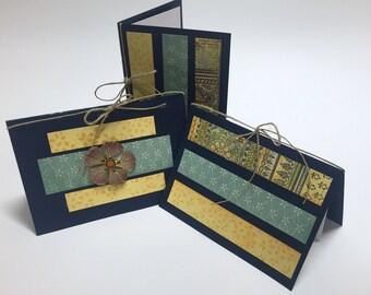 Blank greeting cards (set of three)