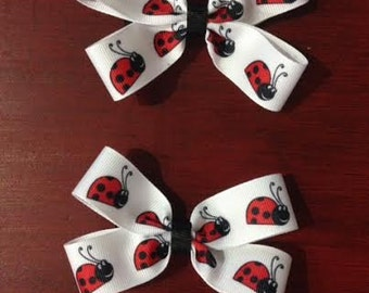 4 inch hair bow set