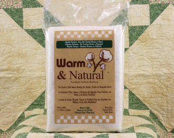 """Warm & Natural Cotton Batting, Pre-cut 45""""x60"""" Package, Baby Size Batting package 9507"""