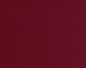 Burgundy Red Solid Cotton Spandex Jersey Knit Fabric 5123