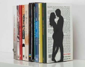 Two pieces Bookends -  Romantic  Bookends - for love and romance books -Book Accessories