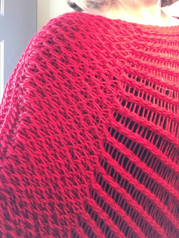 Loom Knitting Questions : Indian paintbrush poncho a loom knit pattern from