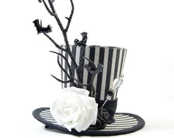 Gothic mini Hat Strip - bats to AST - Fascinators - headpiece