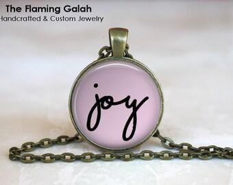 JOY Pendant • Joy Quote • Joy Word Jewelry • Happiness • Virtue Jewellery • Gift Under 20 • Made in Australia (P1215)