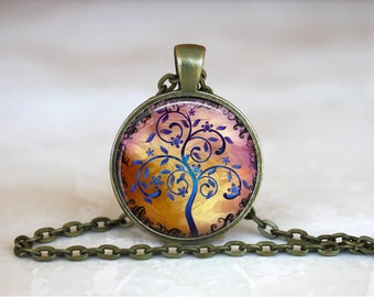 TREE OF LIFE Pendant •  Mystical Tree •  Family Tree • Spiritual Tree • Gift Under 20 • Made in Australia (P0410)