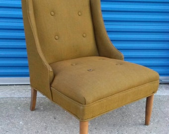 Mid century modern lounge chair vintage retro brown green