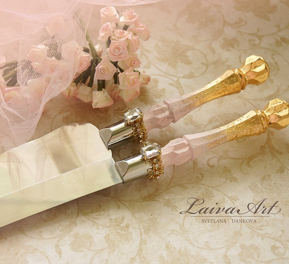 gold wedding cake server set knife cake cutting set by laivaart. Black Bedroom Furniture Sets. Home Design Ideas