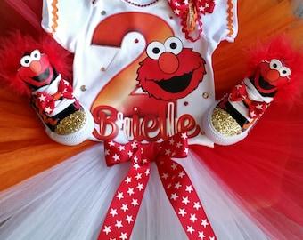 Elmo Tutu Set W/Shoes