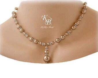 Bridesmaid Necklace, Choice Of Color, Wedding Jewelry, Pearl Bridesmaid Jewelry, Pearl Necklace, Bridesmaid Giftsd, Wedding Necklace