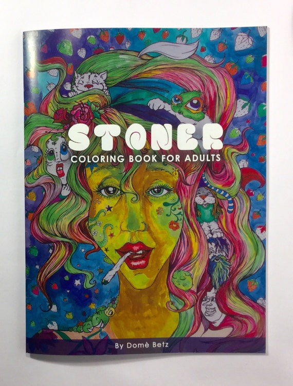 Stoner Coloring Book for Adults weed stuff adult coloring