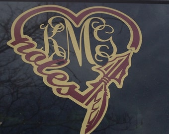 FSU Love Decal with or without monogram