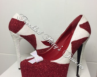 Red christmas heels - made to order