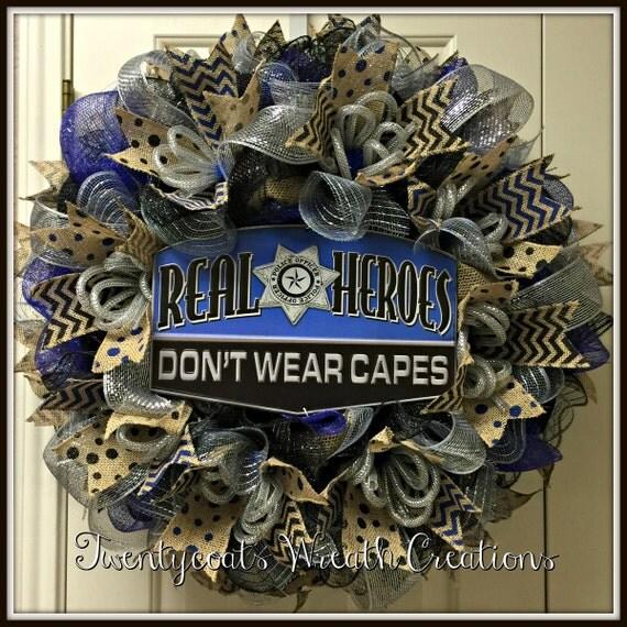 Law Enforcement/Police Deco Mesh Wreath