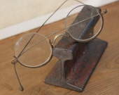 Victorian Spectacles Eyeglasses Round with Metal bottom rim
