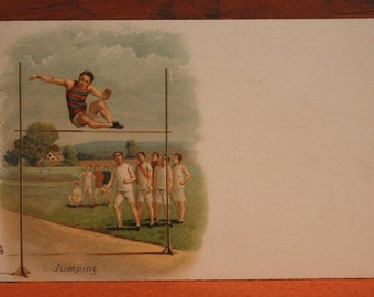 Raphael Tuck and Sons SPORT Postcard No. 511 JUMPING