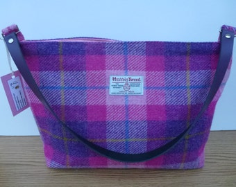 Pink Check Harris Tweed Handbag