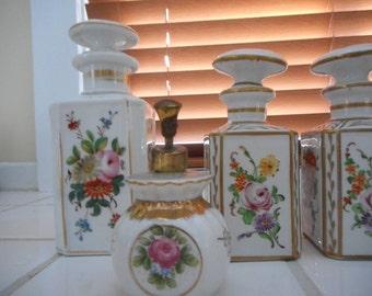 Sale!  Four Piece French Vanity Jars