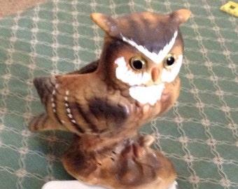 Lefton Owl Planter Vintage