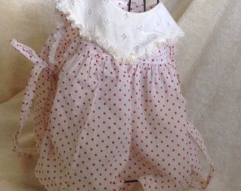 Vintage Dotted Swiss Baby Dress