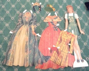 "1992 Shackman Paper Dolls 8.5"""