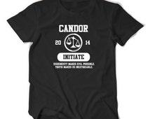 Candor Divergent initiate tee t shirt