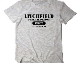 Orange is the new black Litchfield federal prison inmate tee t shirt